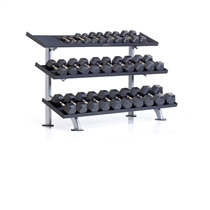Stojan na činky TUFF STUFF 3-tier hex dumbell rack, 15 pair