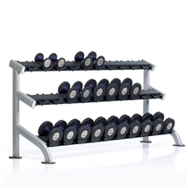 Stojan na činky TUFF STUFF 3 tier dumbbell rack, 15 pair
