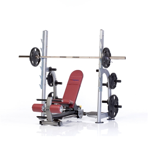 Posilovací lavice TUFF STUFF 4 way linear-action olympic bench